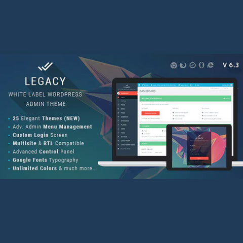 Legacy – White label WordPress Admin Theme