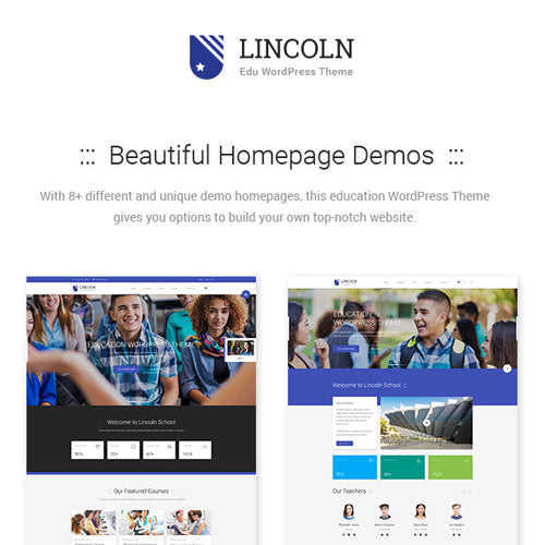Lincoln – Education Material Design WordPress Theme
