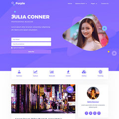 MyThemeShop Purple WordPress Theme