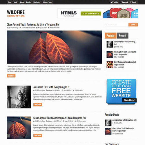 MyThemeShop Wildfire WordPress Theme