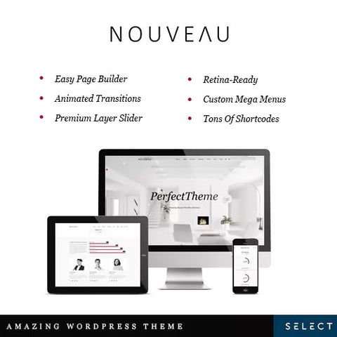 Nouveau – Multi-Purpose Retina WordPress Theme