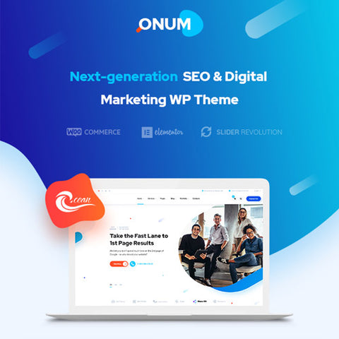 Onum – SEO & Marketing Elementor WordPress Theme