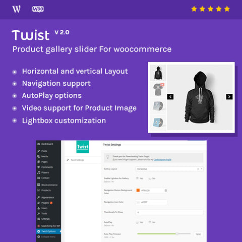 Product Gallery Slider for Woocommerce – Twist