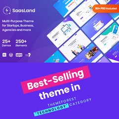 Saasland – MultiPurpose WordPress Theme for Startup