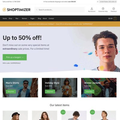Shoptimizer – Fastest WooCommerce WordPress Themes