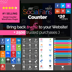 SocialFans – WP Responsive Social Counter Plugin