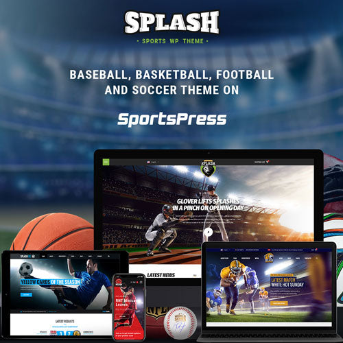 Splash Sport – WordPress Sports Theme for Basketball, Football, Soccer and Baseball Clubs