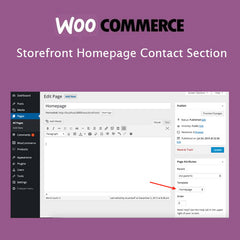 Storefront Homepage Contact Section