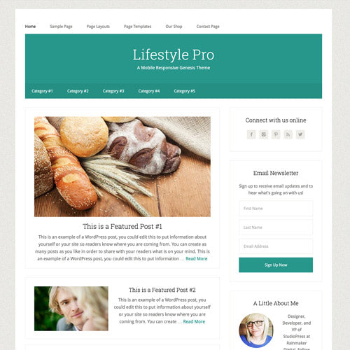 StudioPress Lifestyle Pro Genesis WordPress Theme