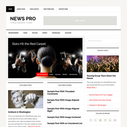 StudioPress News Pro Genesis WordPress Theme