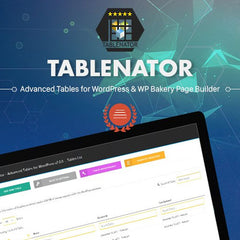 Tablenator – Advanced Tables for Visual Composer