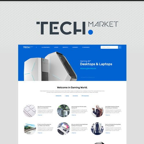 Techmarket – Multi-demo & Electronics Store WooCommerce Theme