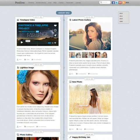 Themify Postline WordPress Theme