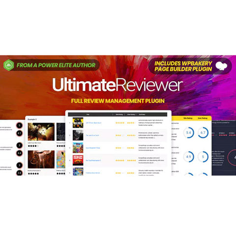 Ultimate Reviewer WordPress Plugin For WPBakery Page Builder