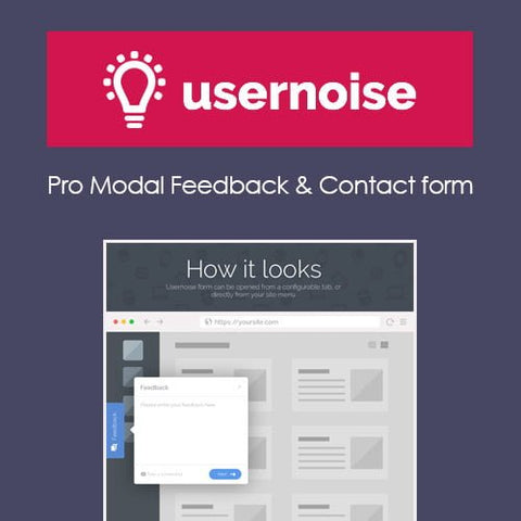 Usernoise Pro Modal Feedback & Contact form