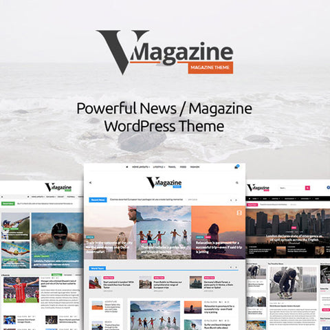 Vmagazine- Blog, NewsPaper, Magazine WordPress Themes