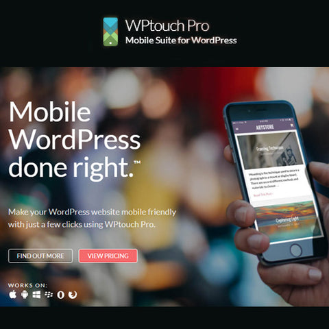 WPtouch Pro – Mobile Suite for WordPress