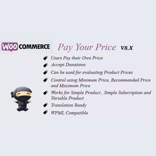 WooCommerce Pay Your Price