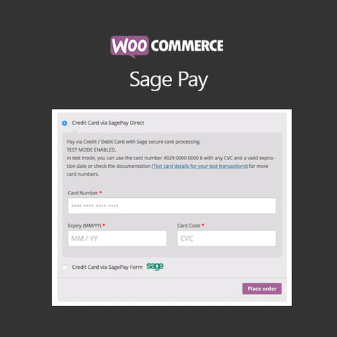 WooCommerce SagePay Form / SagePay Direct