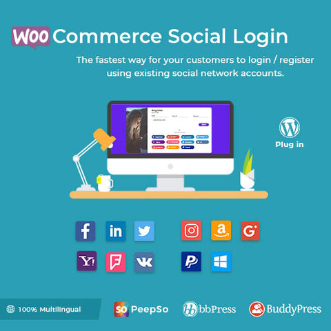 WooCommerce Social Login – WordPress Plugin