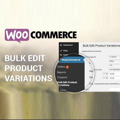 Woocommerce Bulk Edit Variable Products & Prices