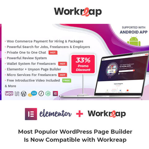 Workreap – Freelance Marketplace WordPress Theme