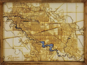 Regina Wooden Topograhical Map