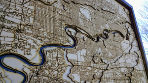 Edmonton Wooden Topograhical Map