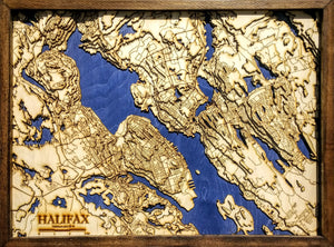 Halifax Wooden Topograhical Map