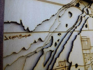 Kingston Wooden Topograhical Map