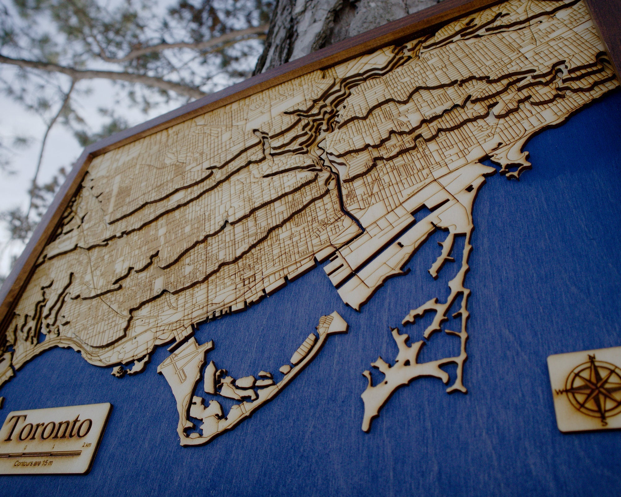 Toronto Wooden Topograhical Map