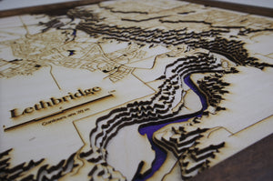 Lethbridge Wooden Topograhical Map