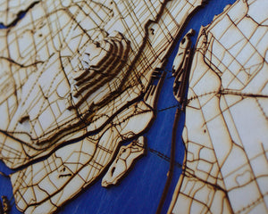 Montreal Wooden Topograhical Map