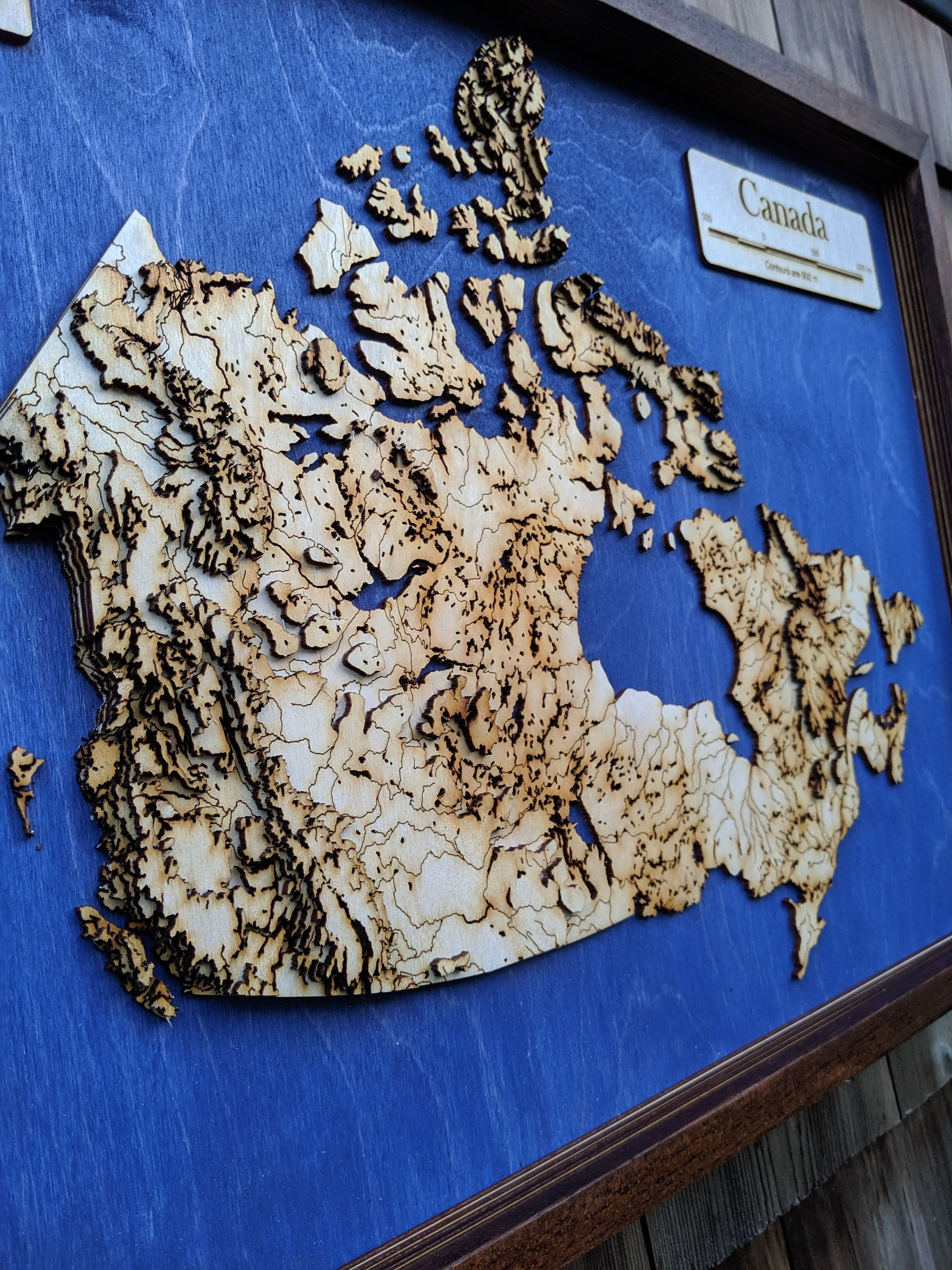 Canada Wooden Topograhical Map