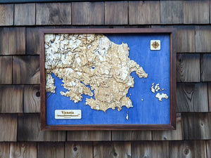 Victoria Wooden Topograhical Map