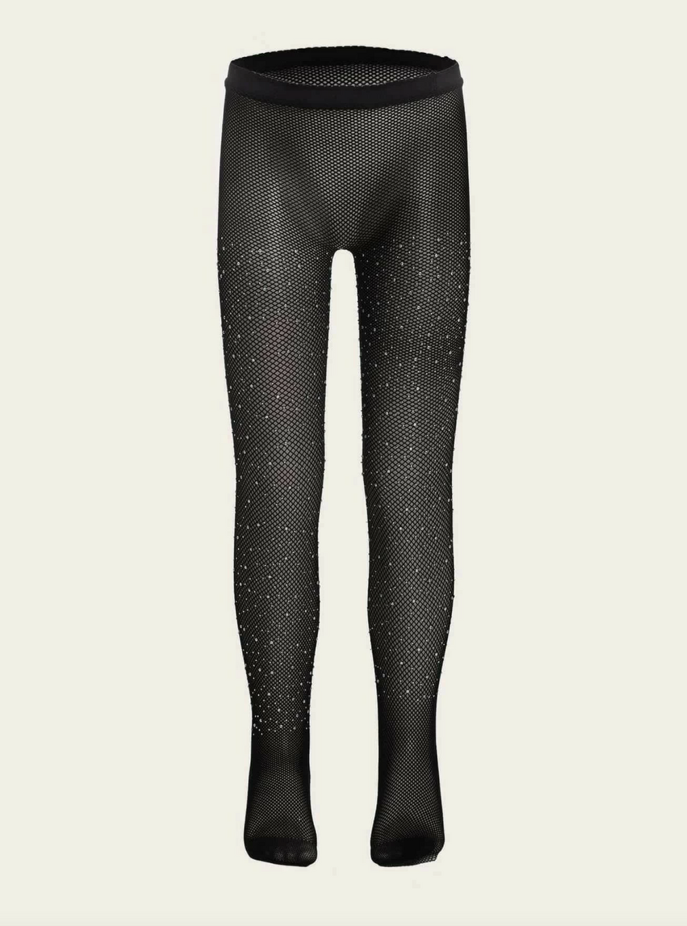 Diva Girl Rhinestone Decor Mesh Tights