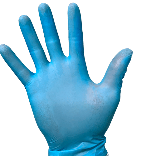 Blue Viniforce Nitrile/Vinyl Hybrid Gloves - MMK Supply