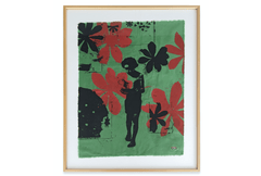 Boy with Vessel (Red Flowers/Green Linen) 2004 by Walter Dahn - Beirut Re–Store