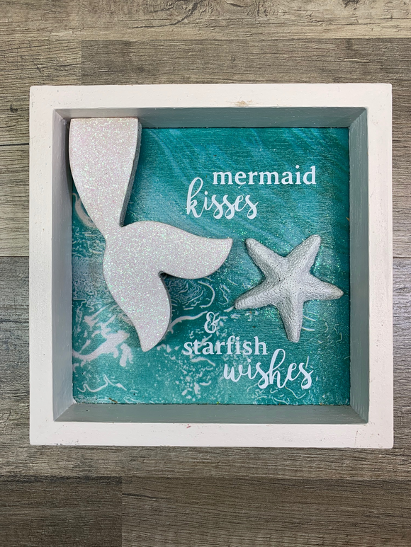 Mermaid Kisses & Starfish Wishes Mini Shadowbox