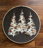Three Trees Decal for Embroidery Hoop Project