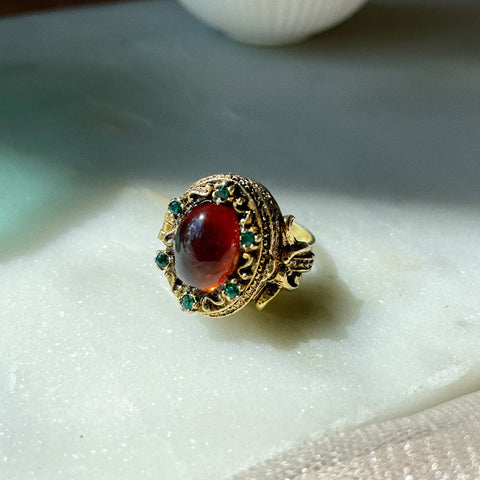 Vintage | Mode-Art Poison Compartment Ring | Adjustable