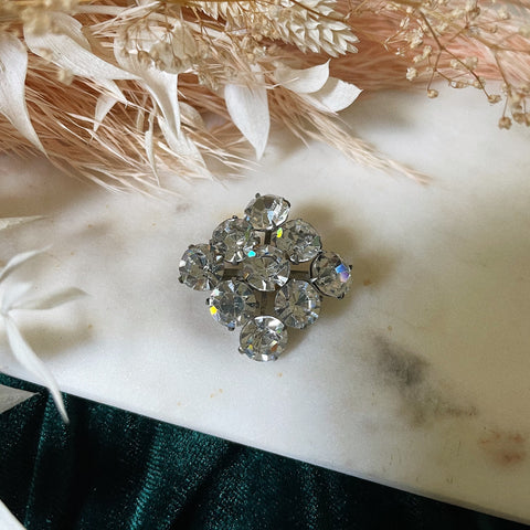 Vintage | Square Crystal Brooch