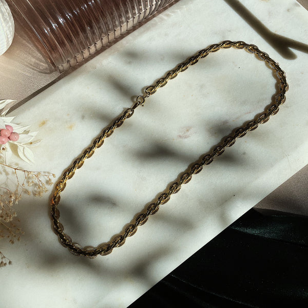 Vintage | Flat Gold-Tone Double Curb Chain