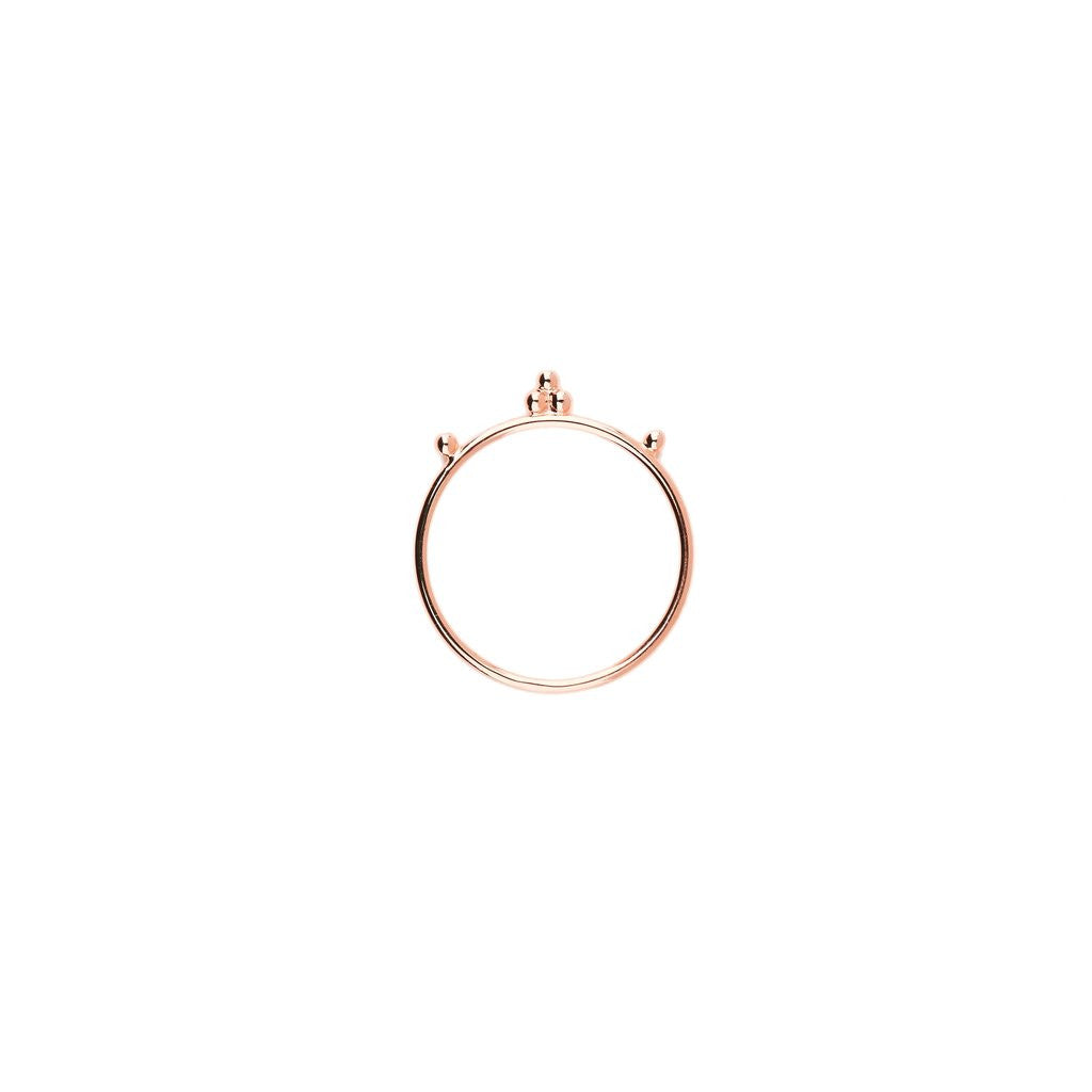By Charlotte - Rose Gold Cherish Ring - Large