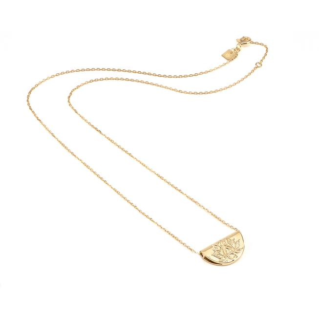 By Charlotte - Gold Lotus Short Necklace