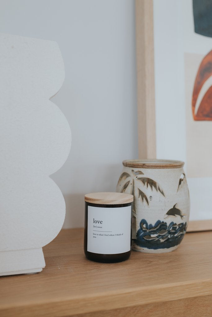 The Commonfolk Collective - Dictionary Meaning Soy Candle - Love