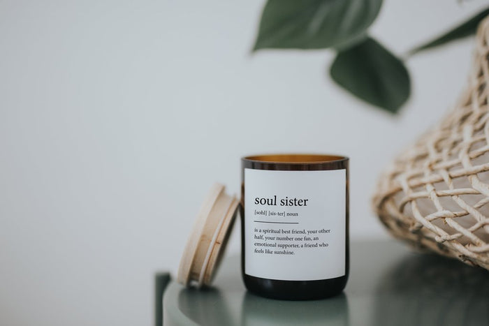 The Commonfolk Collective - Dictionary Meaning Soy  Candle - Soul Sister