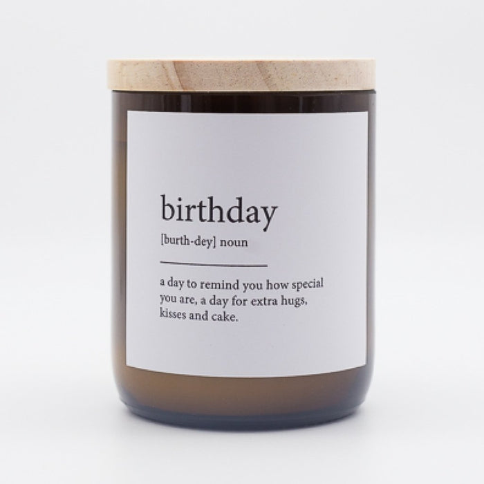 The Commonfolk Collective -Dictionary Meaning Soy Candle - Birthday