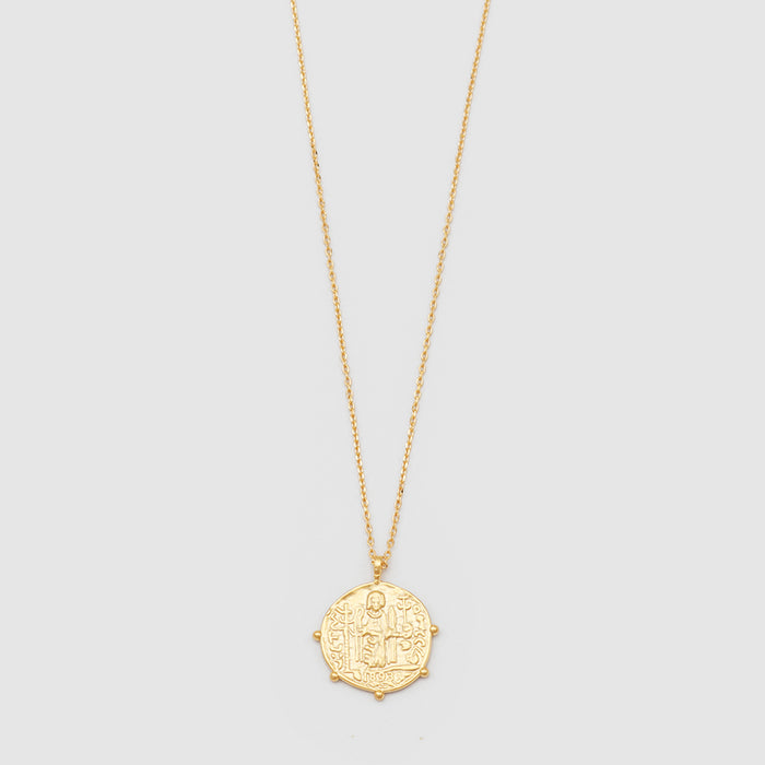 Jolie & Deen - Aztec Coin Necklace - Gold
