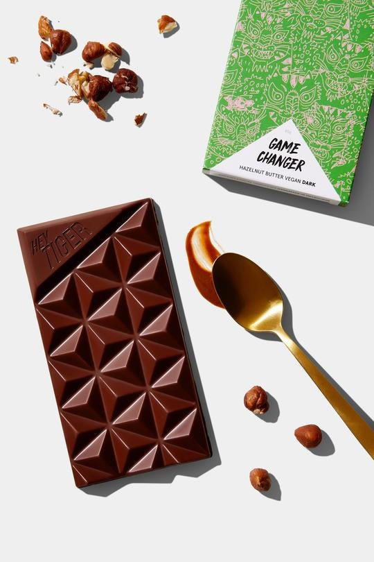 Hey Tiger - Game Changer - Hazelnut Butter Vegan Dark Chocolate